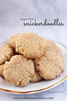 Sugar Free Snickerdoodles Cookies - I'm all about easy cookie recipes & I need to make 6 dozen cookies for an upcoming Christmas cookie exchange. I don't want to ruin my diet though.... so I found this snickerdoodles recipe idea - it's sugar free! They're made with Splenda. My new favorite sugar-free dessert! #AD #SweetSwaps #CleverGirls