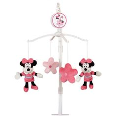 I'm learning all about Disney Baby Bedding Disney Baby Minnie Mouse Mobile at @Influenster!