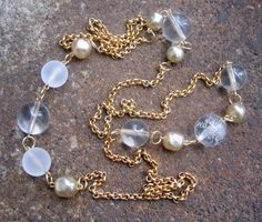 Step Into the Light Necklace  Recycled Vintage Chain by threepeats on etsy