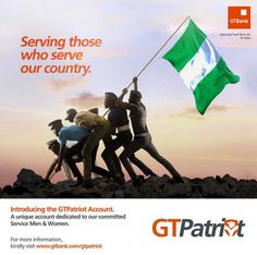 Foremost+financial+institution,+Guaranty+Trust+Bank+plc,+has+launched+GTPATRIOT,+a+unique+Salary+Account+Package+which+offers+Nigeria's+servicemen+and+servicewomen+subsidized+banking+products+and+dedicated+value+added+services.+The+GTPatriot+Account+allows+serving+members+of+the+Military+and+Paramilitary…