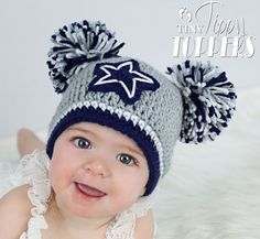 Dallas Cowboys Crocheted Hat   Baby girl boy child....my soon to be hubby would love this on our possible future baby...=)