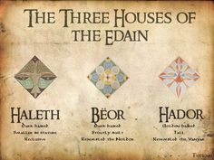Tolkien // The Simarillion // Houses of the Elves