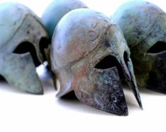 Bronze Metal Helmet Ancient Greek Spartan War by GreekMythos
