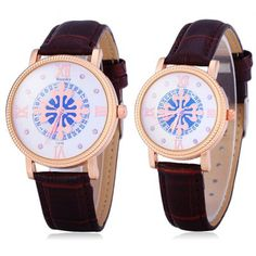 Weesky 1216 Flower Dial Date Display Couple Diamond Quartz Watch-10.85 and Free Shipping| GearBest.com