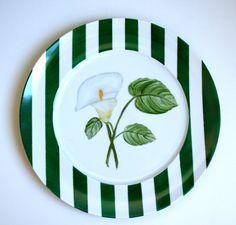 Aparelho Flores - prato verde