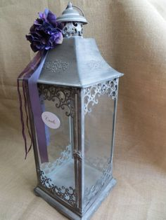 Pick your Colors Large Wedding Lantern Card by TheHauteBoxBoutique, $89.95