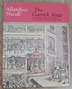 Garrick Stage Theatres and Audience in the Century - Allardyce Nicoll 1980 Theatre Stage, Theatres, 18th Century, Acting, Ebay, Printing, Theatre, Theater, Movie Theater