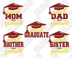 Proud Graduate Family Mini Bundle Cut File Set in SVG, EPS, DXF, JPEG, and PNG