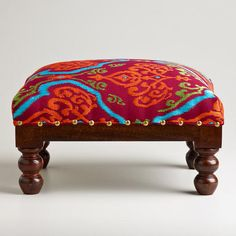 One of my favorite discoveries at WorldMarket.com: Rectangular Embroidered Upholstery Footstool