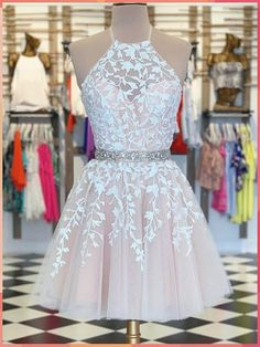 A-Linie Pink Applique Short Prom Kleid Heimkehr Kleid A-line Pink Applique Kurzes Abendkleid Homecoming Dress – selinadress Champagne Homecoming Dresses, Cute Prom Dresses, Event Dresses, Sexy Dresses, Party Dresses, Summer Dresses, Dress Prom, Wedding Dresses, Short Pink Prom Dresses