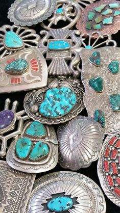 Wide selection of Native American buckles at Albuquerque Pawn Shop
