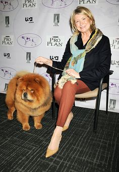 """He gets along with pretty much everybody. I have never seen him mad. I have never seen him agitated; I have never seen him having a bad day."""" — Martha Stewart on her dog Genghis Khan"""