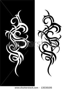 Tribal art swirls