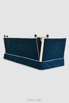 Kent Knole settee in teal velvet Tufted Sofa, Chesterfield Sofa, Settee, Blue Sofas, Blue Chairs, Tight Back Sofa, Blue Furniture, Custom Sofa, Velvet Sofa