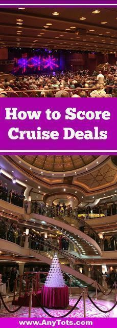 Cruise Tips and Tricks on How to Score Cruise Deals. www.anytots.com #CruiseTips