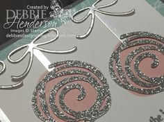 Debbie's Designs: 12 Days Of Christmas Swirly's Day 8. If you like shimmer & shine, you'll love this card. Stampin' Up! Swirly Bird stamp set & Swirly Scribbles Thinlits Dies. Tutorials available on my blog. Debbie Henderson