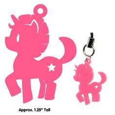 Cute Jewelry - Unicorn - Laser Cut Charm - Nemu Shop.. $5.00