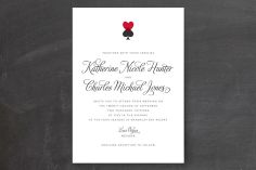Hearts and Spades Wedding Invitations by Jill Means at minted.com