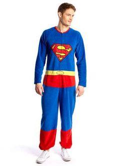 Superman Fleece Onesie  $52  Superman Adult Pajama Onesie