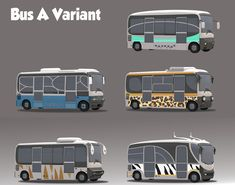 "jimjam-art: "" Zootopia vehicles. Buses, cars, a garbage truck. Here are some concepts for the background vehicles. """
