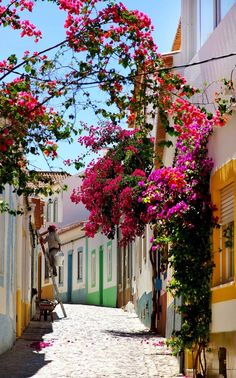 Beautiful Street in Algarve, Portuga l | The most beautiful European Destinations in Spring