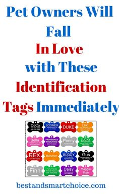 These lovely identification tags come in a wide range of different bright colors, all of which will help a pet stand out in a crowd, which can be...continue reading by clicking here --> http://bestandsmartchoice.com/2015/09/pet-owners-will-fall-in-love-with-these-identification-tags-immediately/
