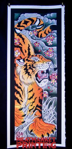 Japanese Tiger Fine Art Print by BinaryPrints on Etsy, $35.00