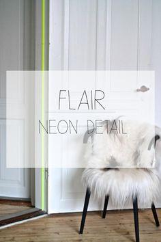 neon detail, neon, washi tape, indretning, flair, shocking yellow, neon gul, dørkarm