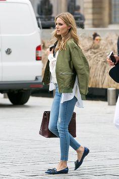 How to Wear Flats Every Single Day Like Olivia Palermo via @WhoWhatWear
