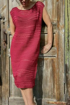 Marsala dress Handknitt dress Burgundy dress от JuliasFineKnits