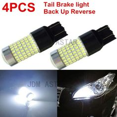 JDM ASTAR 4x 144SMD 7440 7443 12V LED White Tail Brake Backup Reverse Light Bulb #JDMASTAR