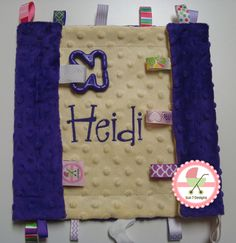 Personalized Baby Blankets and other baby products at www.sun7designs.com