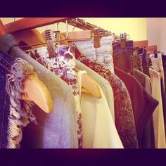 Rows and rows of new denim!!!!  Sugar Editors' Instagram Pics: Fashion, Beauty, Celebrities