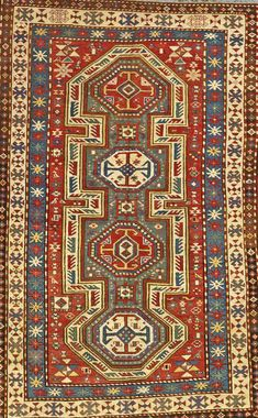 Lot 1038. Kazak rug, southwest Caucasus, circa 1880, approximately 5ft. x 8ft. US$5,000-7,000