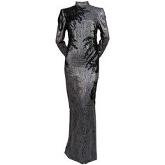 1960's PIERRE BALMAIN haute couture gown with tulle and feathers   From a collection of rare vintage evening dresses at https://www.1stdibs.com/fashion/clothing/evening-dresses/