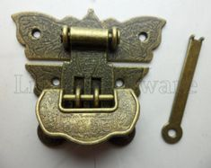 Friendly 2 Small Box Hand Made Hinges Vintage Aged Style Solid Brass Door Heavy 14 Cm 2019 New Fashion Style Online Antiques