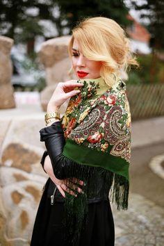 Как носить платок a la russe и выглядеть современно 7