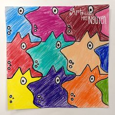 Tessellation Monsters 2.0 (5th) - Art with Mrs. Nguyen