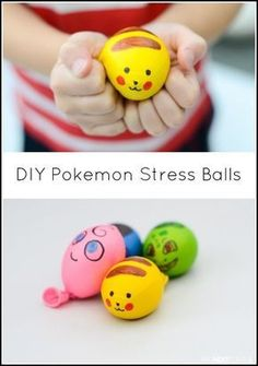 DIY Pokemon Stress Balls DIY Pokemon Stress Balls,Fun Kids Crafts Ideas Easy DIY Pokemon inspired stress balls for kids from And Next Comes L Related besten DIY Schlafzimmer Dekor IdeenEasy DIY Mimosa Bar. Diy Crafts For Kids, Projects For Kids, Gifts For Kids, Fun Crafts, Easy Diys For Kids, Kids Diy, Craft Ideas, Diy Pokemon, Pokemon Party
