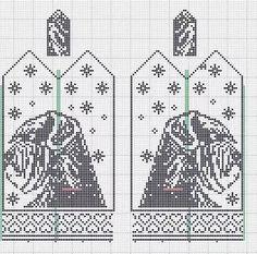 Knitting Patterns Free Dog, Knitted Mittens Pattern, Crochet Amigurumi Free Patterns, Knitting Charts, Knitting Stitches, Cross Stitch Charts, Cross Stitch Patterns, Crochet Braids For Kids, Crochet Blanket Edging