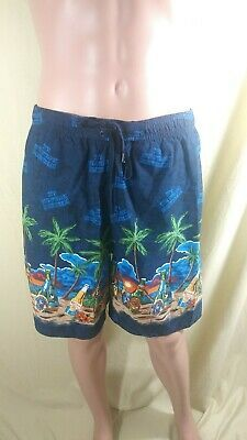 Palms Leopard Coral Hibiscus Flowers Mens Summer Swim Trunks 3D Graphic Quick Dry Funny Beach Board Shorts with Mesh Lining