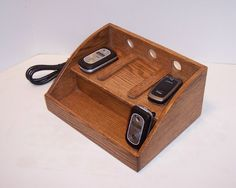Charging Station Handcrafted in Oak by tomroche on Etsy, $50.00