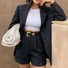 Glamouröse Outfits, Cute Casual Outfits, Stylish Outfits, Fall Outfits, Fashion Outfits, Fashion Ideas, Outfits Hombre, Blazer Outfits, Short Outfits