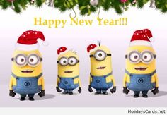 Happy new year christmas minions
