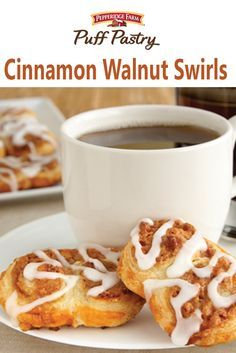 Puff Pastry Cinnamon Walnut Swirls Recipe. No need to go to the bakery when you can make these scrumptious Puff Pastry swirls, dripping with cinnamon sugar, right in your own kitchen...they're easy and delicious!