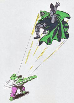 #Hulk #Fan #Art. (Hulk vs. Doom) By: Ripplin. ÅWESOMENESS!!!™ ÅÅÅ+