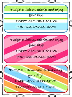 Administrative Istants Day Gift Tags Should Be Put With A Fudge Brownie Mix And Then