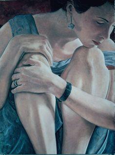 "262. ""Gabrielle Senza"", oil on paper, 36"" x 24"", 1996, richard Britell (s)"