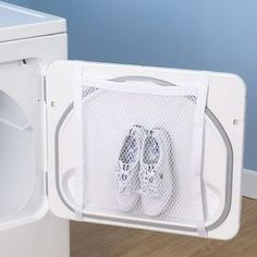 Mainstays Sneaker Wash and Dry Bag: Storage & Organization, End sneaker tumbling and get some peace and quiet while your sneakers dry. This Mainstays Sneaker Wash and Dry Bag prevents that annoying tumbling noise and allows your sneakers to dry quietly. Carpenter Bee Trap, Bee Traps, Laundry Hacks, Laundry Rooms, Wash N Dry, Wash Bags, Storage Organization, Shoe Storage, Storage Ideas