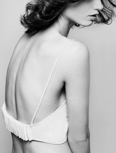 """pleated back detail """"Encounters"""". Photographed by Nicole Maria Winkler for Vogue.it"""
